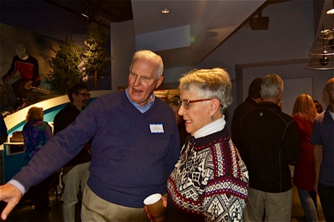 David Vandehei and Suzy Harris Rytting at Grand Opening of Three New Exhibits